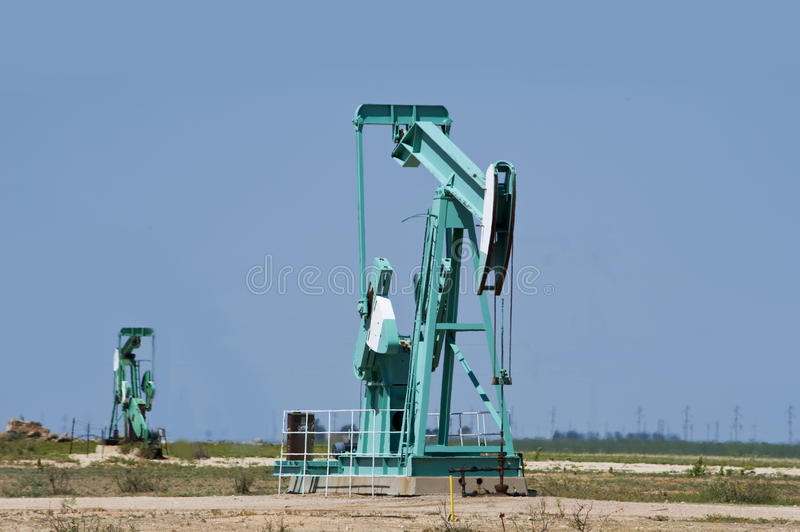 Download Oil Well Pumper. stock photo. Image of prairie, prosperity - 26471342