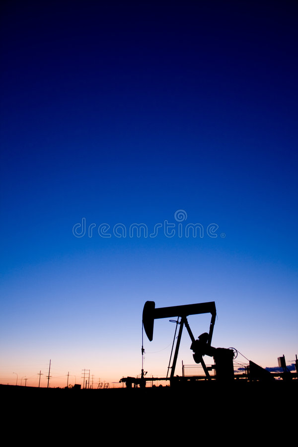 Free Oil Well Pumpjack Sunset Stock Image - 6702571