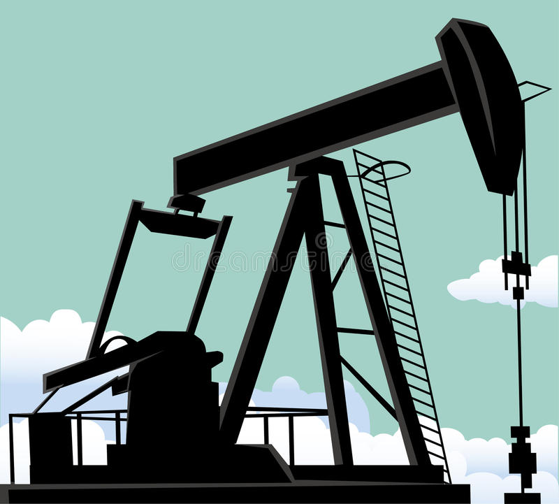 Oil well vector illustration