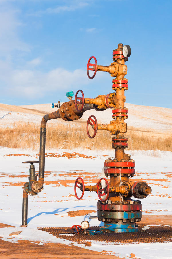 Download Oil Wellhead stock image. Image of russia, drilling, industry - 24103931