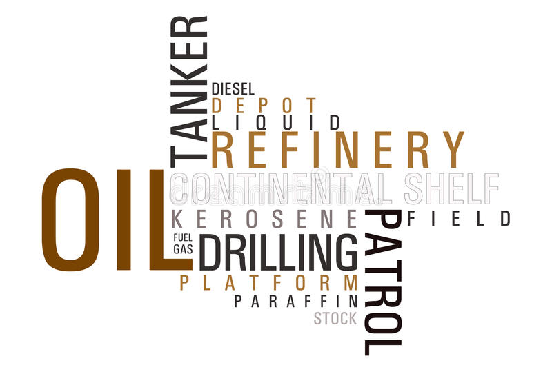 Oil word cloud royalty free illustration