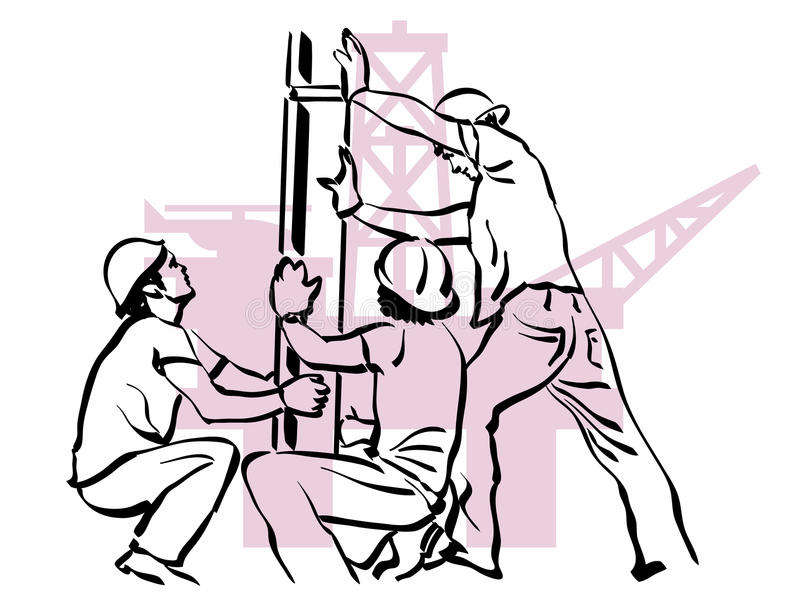 Download Oil worker stock vector. Image of helmet, pole, petroleum - 19437740