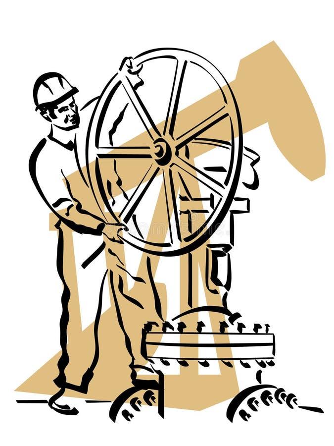 Download Oil worker stock vector. Illustration of helmet, pulley - 20057386