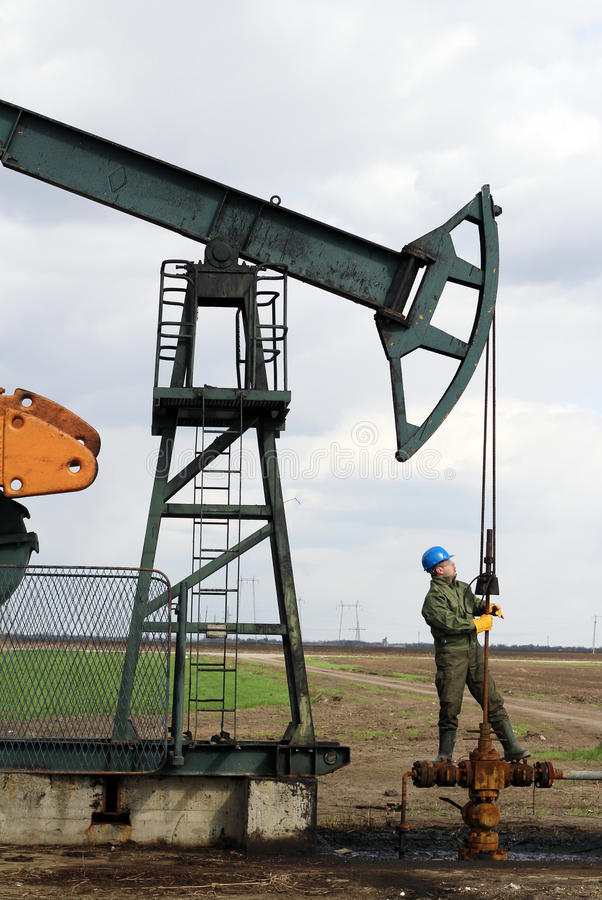 Oil worker stock photos