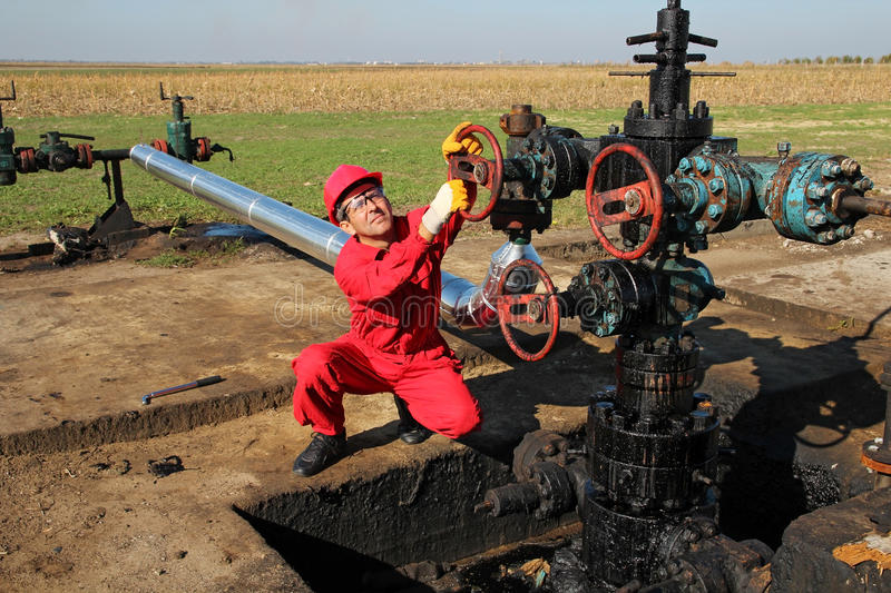 Download Oil Worker stock photo. Image of coveralls, laborer, black - 40137998