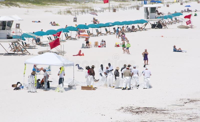 Download Oil Workers Replace Tourists On Pensacola Beach Editorial Photo - Image: 14860021