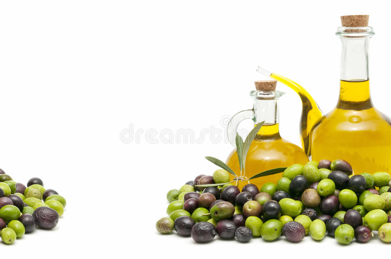 Oilers and olives royalty free stock image
