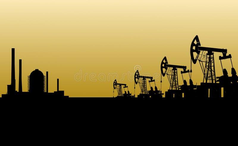 Download Oilfield stock illustration. Illustration of barrel, diesel - 7690637