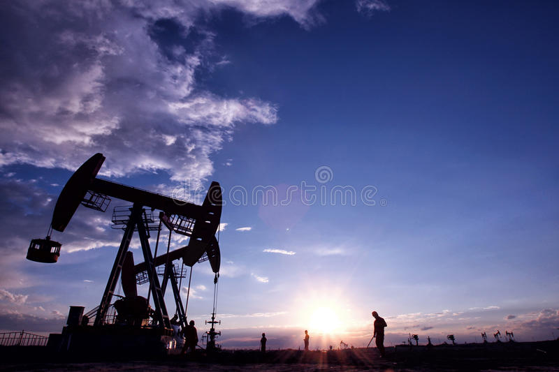 Oilfield scenery royalty free stock images