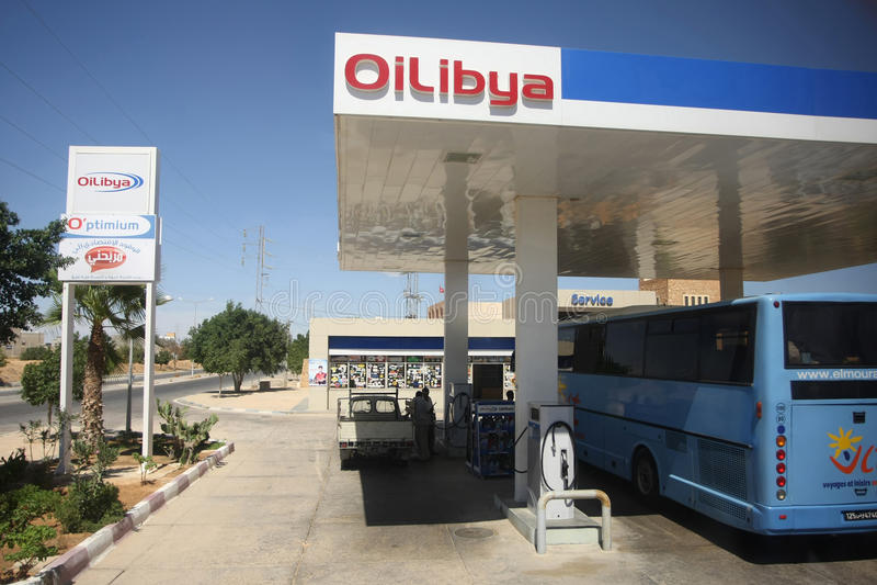 OiLibya in Gabes fotografia stock libera da diritti