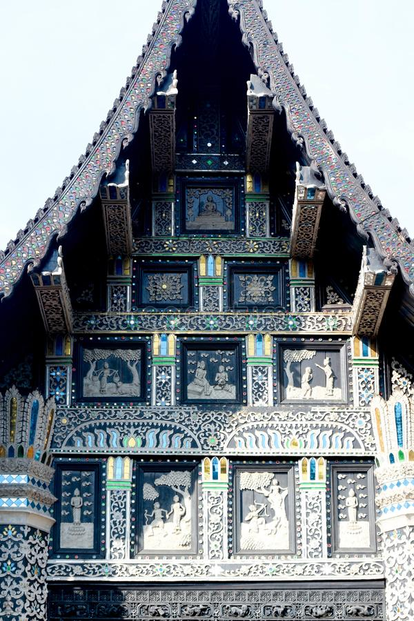 Oill architecture Lanna Thailand architecture. Lanna Thailandnthailandn oil architecturen royalty free stock images