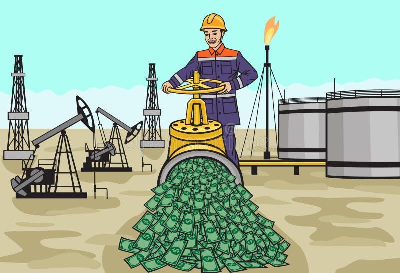 oilman illustration libre de droits