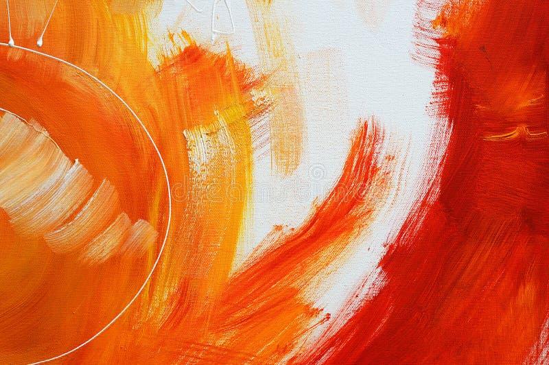 Oilpainting jaune sur la toile image stock