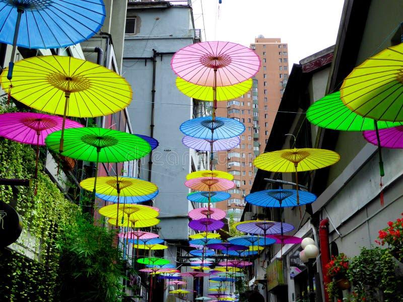 Oilpaper-Regenschirme stockfoto