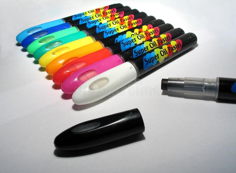 Download Oilpastels II stock image. Image of illustrate, colour, paper - 4995