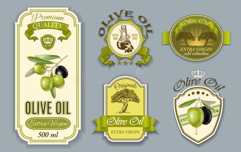 Oilve-Ölaufkleber stock abbildung
