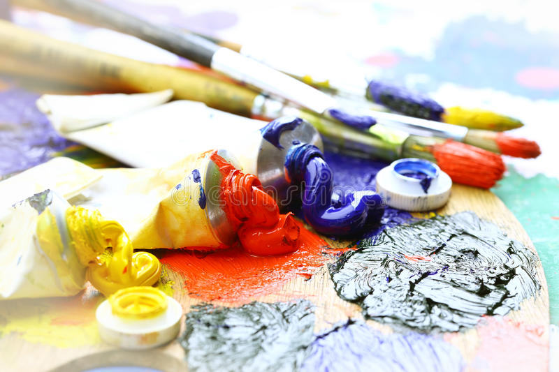 Download Oily paint stock photo. Image of creativity, colors, rainbow - 22125820