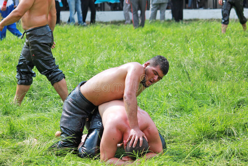 Oily Wrestling Editorial Photo