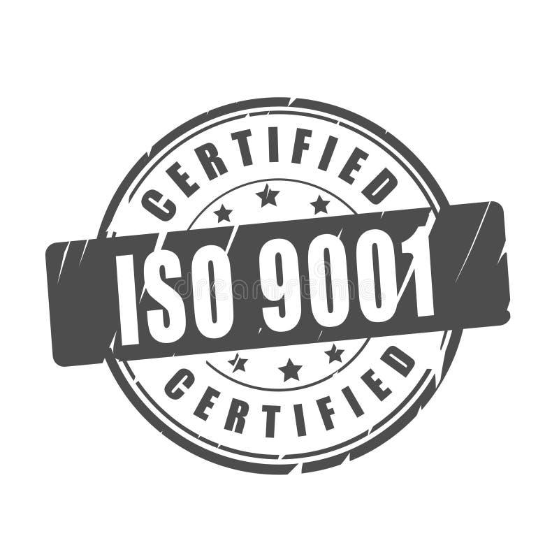 OIN 9001 a certifié le timbre de vecteur illustration libre de droits