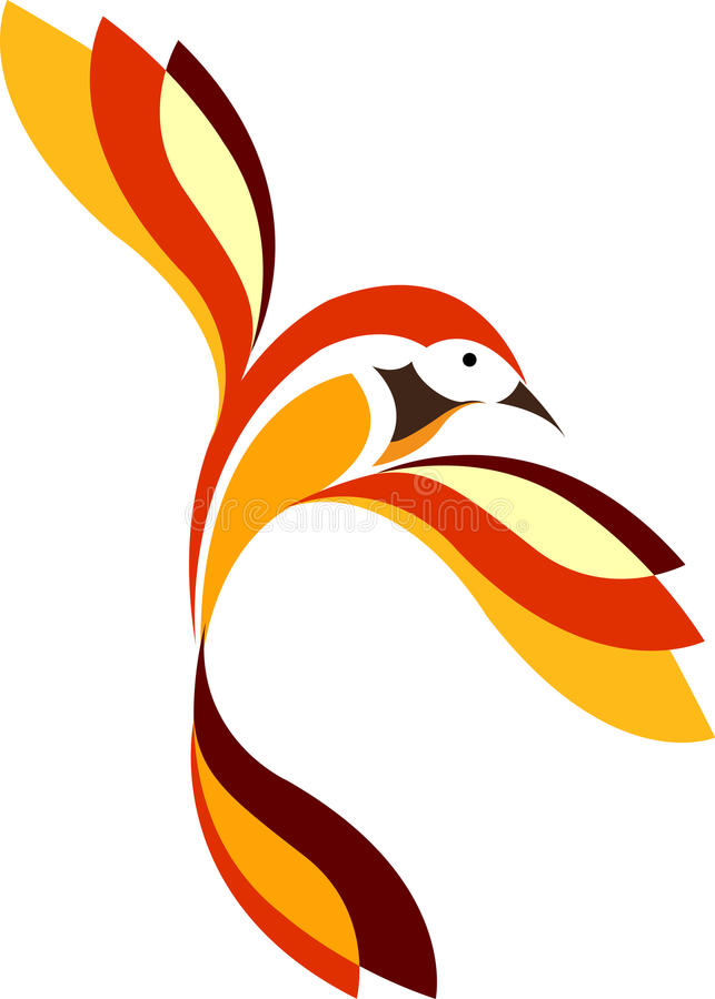 Oiseau élégant illustration stock