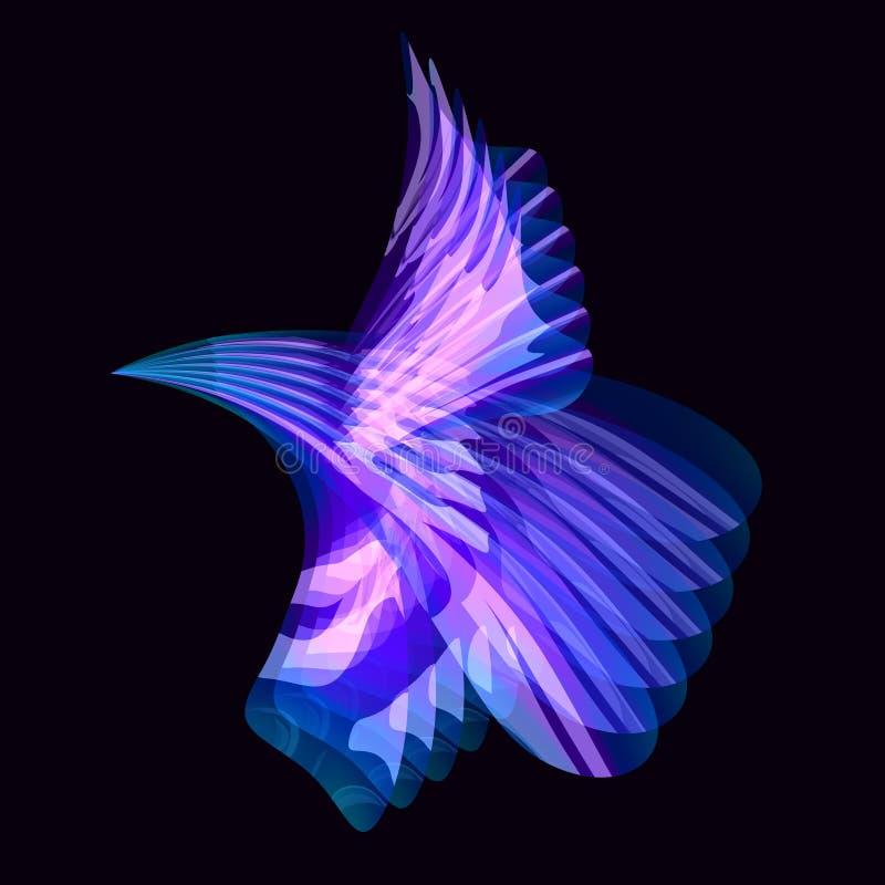 Oiseau abstrait de couleur illustration de vecteur