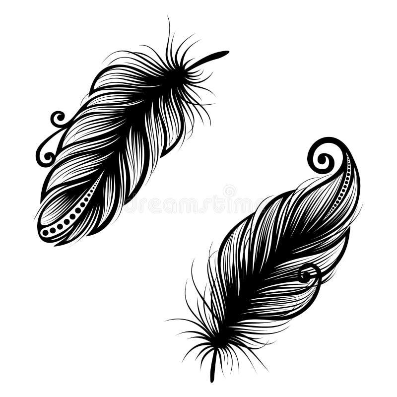 oiseau abstrait de plume illustration de vecteur illustration du isolement 34242989. Black Bedroom Furniture Sets. Home Design Ideas