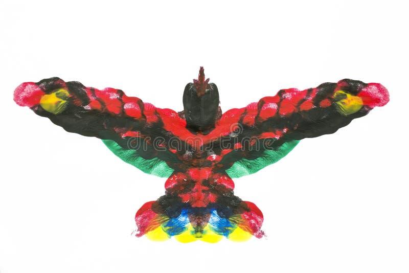Oiseau acrylique exotique photographie stock libre de droits