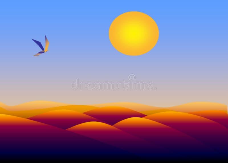 Oiseau au-dessus de désert image libre de droits