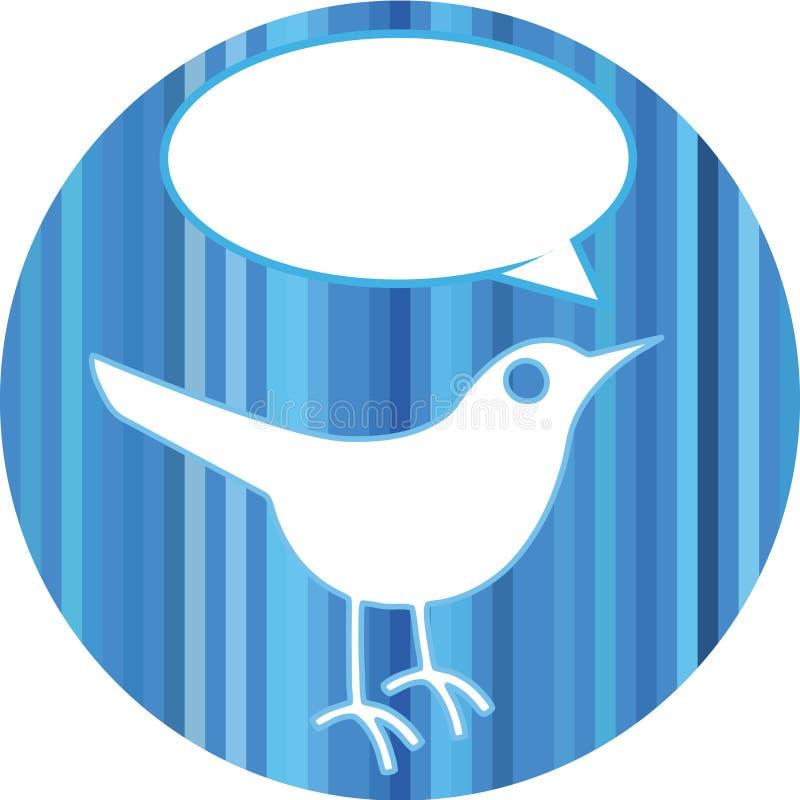 Oiseau avec la bulle de la parole illustration de vecteur