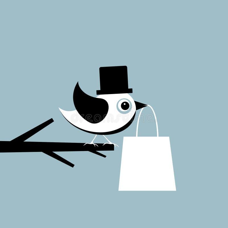 Oiseau avec un module illustration libre de droits