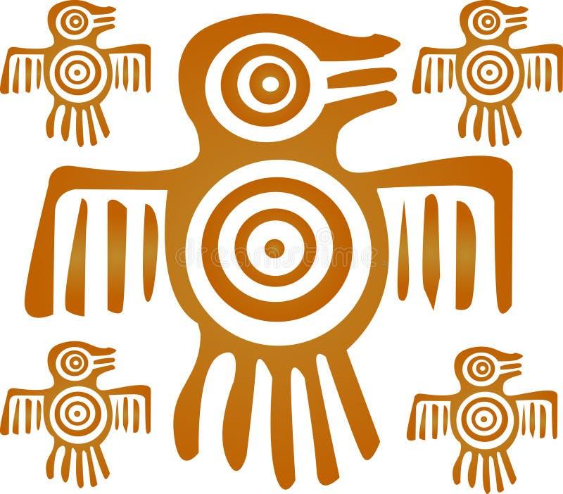 Oiseau aztèque illustration libre de droits