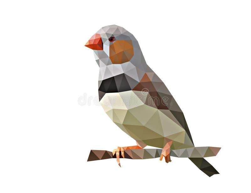 Oiseau bas poly illustration stock