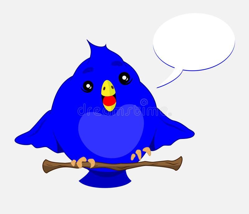 Oiseau bleu illustration de vecteur