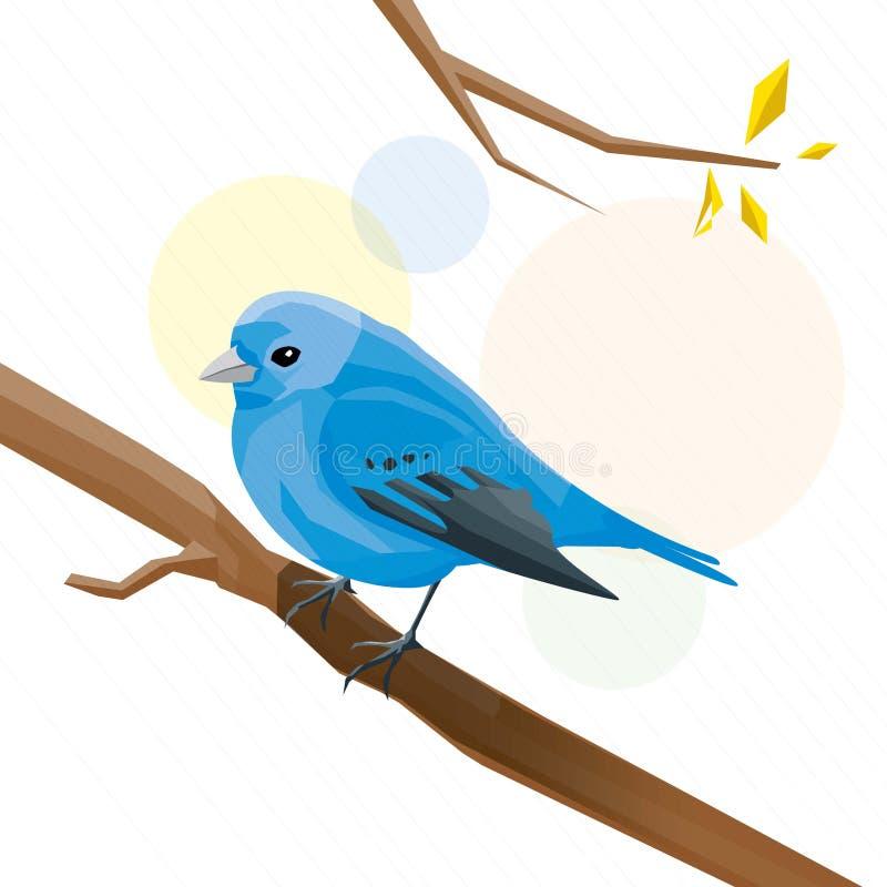 Oiseau bleu images libres de droits