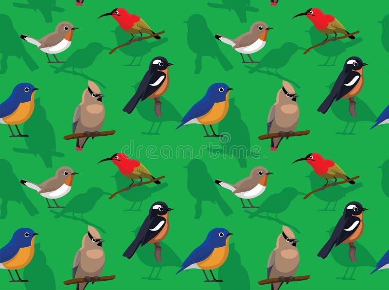 Oiseau bleu aléatoire Robin Sunbird Birds Wallpaper de FLYCATCHER de jaseur d'oiseau d'ASEAN illustration libre de droits