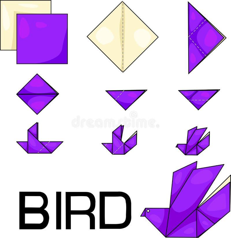 Oiseau d'origami illustration de vecteur