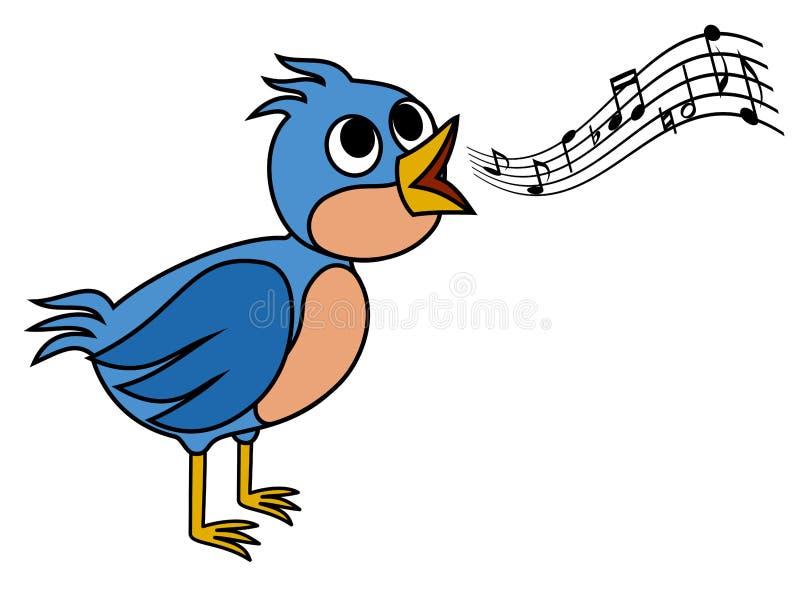 Oiseau de chant illustration stock