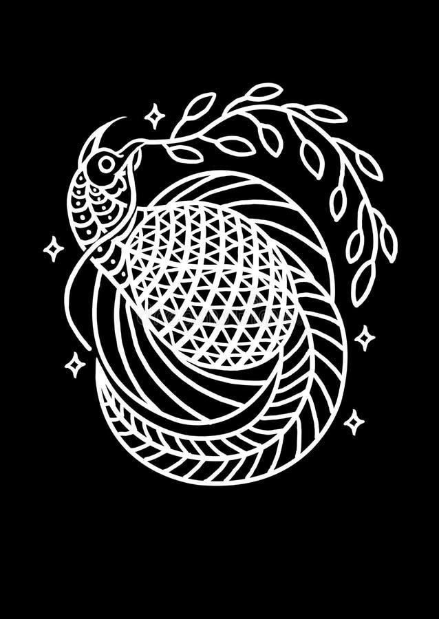Oiseau de conception Art Illustration de paix illustration stock