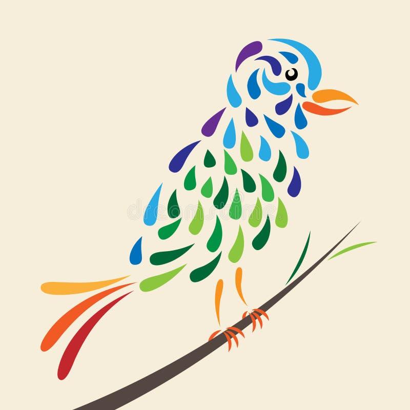 Oiseau de conte de fées illustration stock