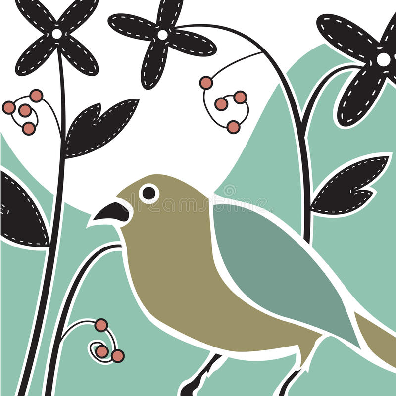 Oiseau de Deco illustration libre de droits