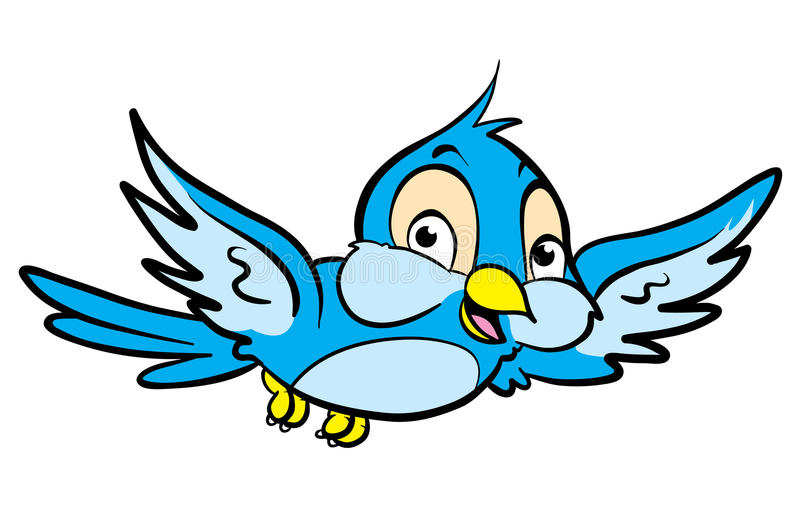 Oiseau de dessin animé illustration de vecteur