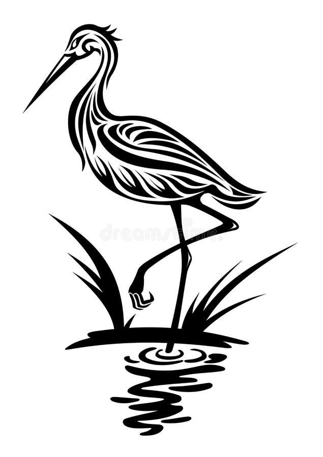Oiseau de héron illustration libre de droits