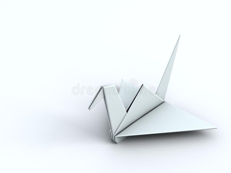 Oiseau de papier de grue d'origami de concept de paix illustration stock