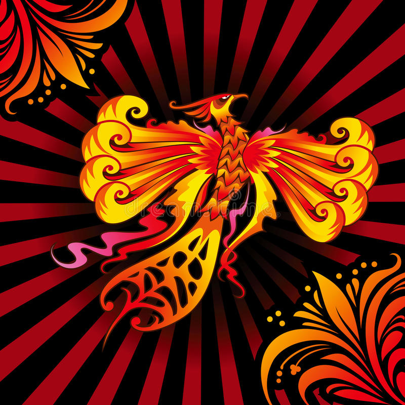 Oiseau de Phoenix illustration de vecteur