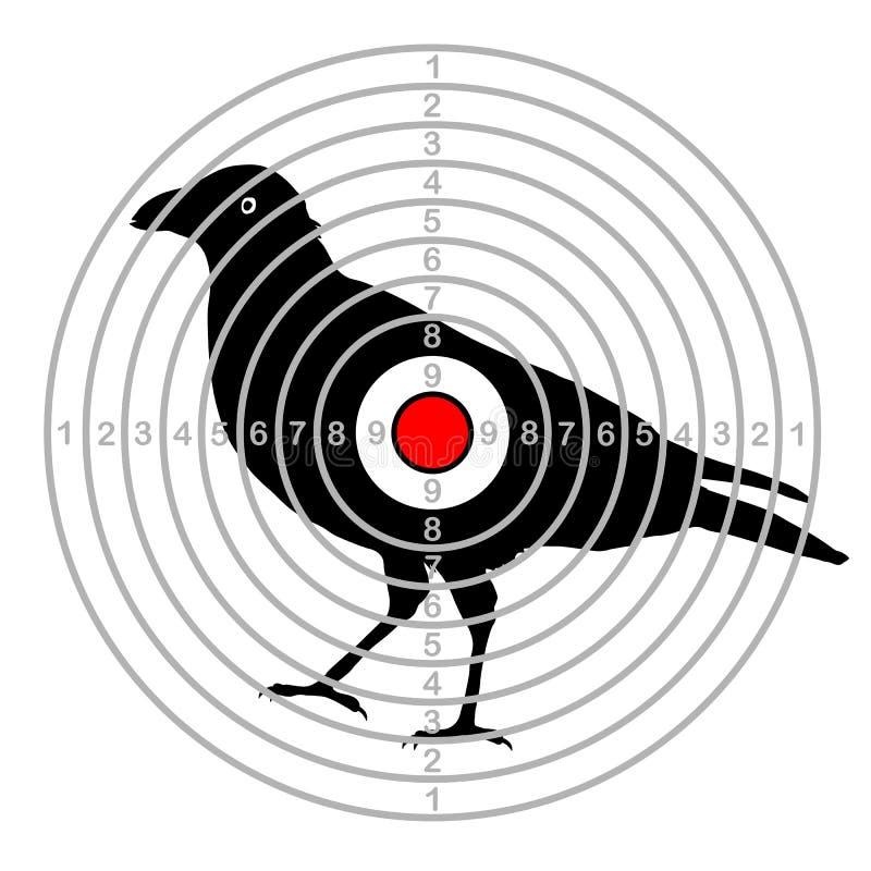 Oiseau de tir de cible dans un tiret illustration libre de droits