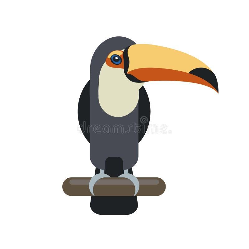 Oiseau de Toucan Illustration plate de vecteur illustration libre de droits