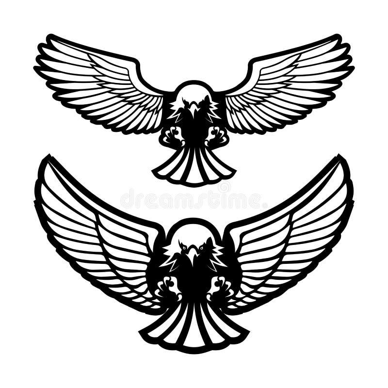 Oiseau des attaques de proie Illustration illustration de vecteur