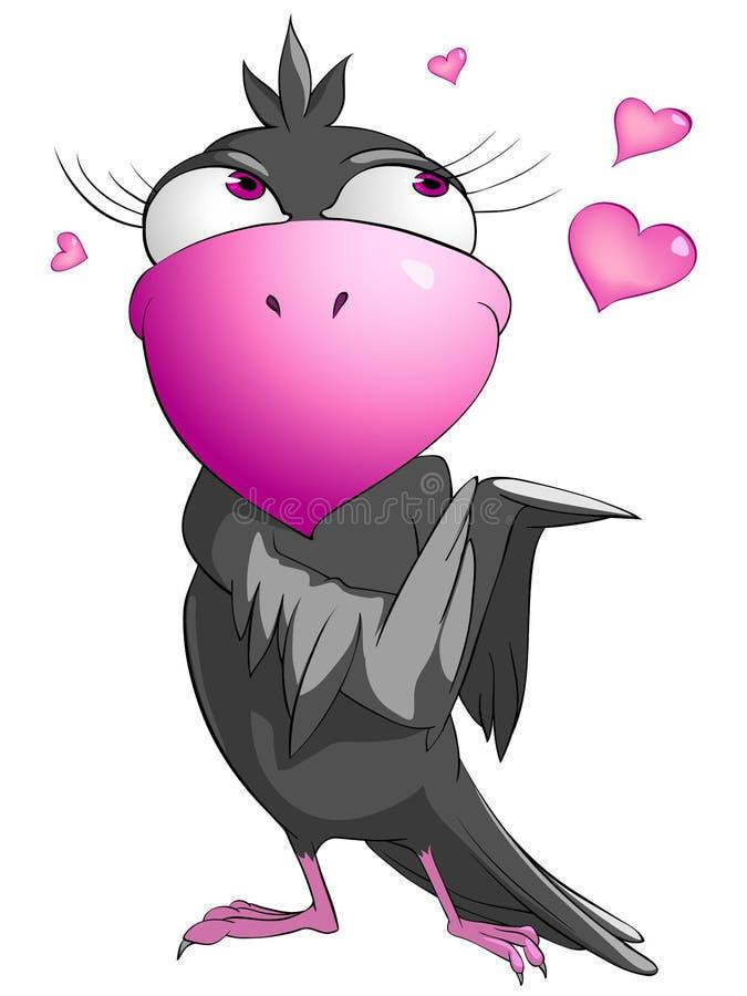 Oiseau drôle de personnage dessin animé photo libre