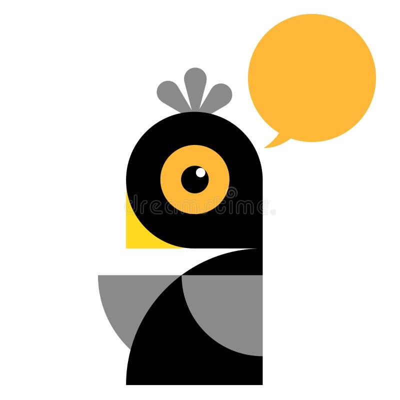 Oiseau graphique illustration de vecteur