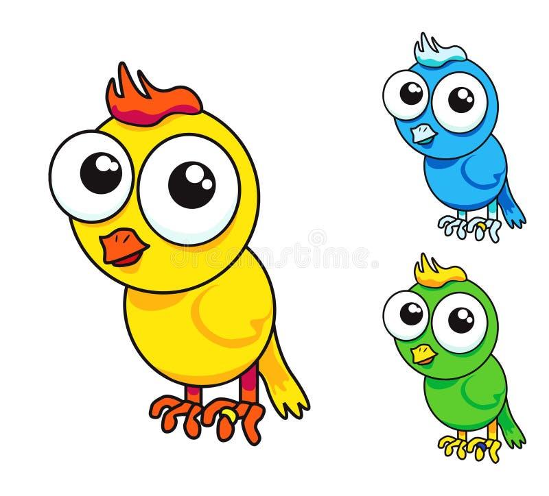 Oiseau mignon dedans   illustration de vecteur